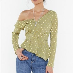 Spot Frill One Shoulder Top Nasty gal SOLD OUT